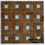 Noce Travertine Dark Mosaic K11