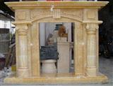 Rosin Yellow Marble Fireplace