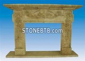 Travertine Fireplace SF-063