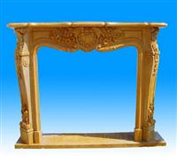 Yellow Marble Fireplace SF-059