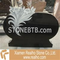 black granite carving monument