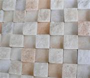 Pink marble mosaic