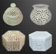 Soapstone Carved Jewelry Boxes