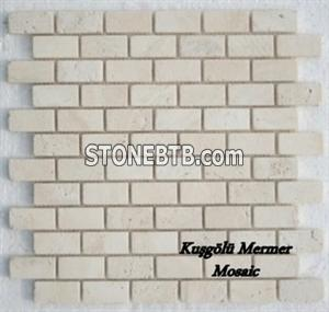 Ivory Travertine Mosaic K15