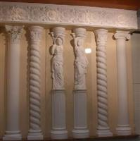 yellow limestone Roman pillars