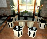 Basalt Table and Benches