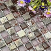 marble and glass mixed mosaic