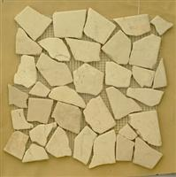Cream marble mosaic tile