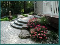 Tumbled Paver Walkway and Patio