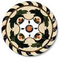Marble Pattern Stone Medallion