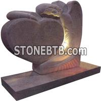 Tianshan Red Granite Tombstone