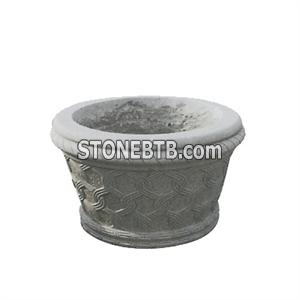 G623 Granite Flower Pot