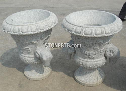 Granite Flower Pot