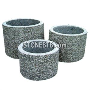 G603 Gray Granite Flower Pot