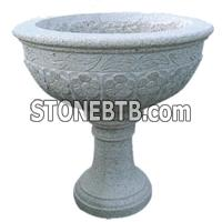G603 Grey Granite Flower Pot