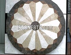 Marble, travertine medallion
