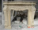 Perlato Svevo Marble Carved Fireplace