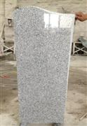 Obelisk figured wave G603 white granite upright headstone