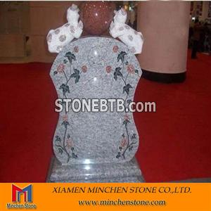 Granite Headstone Carving with Animal