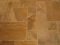 Yellow Travertine Brushed Chipped edge
