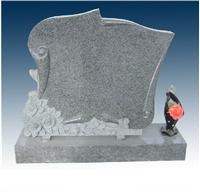 Grey Granite Headstone