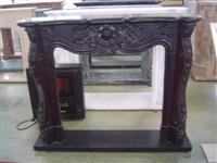 Fireplace in black marble