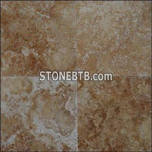 travertine tile rust gold