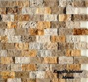 Natural Split Travertine Mosaic K28