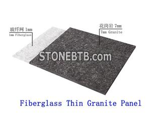 Fiberglass Backed Granite Panel