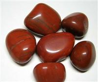 Red polished pebble