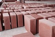 Red sandstone big bricks