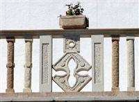 Balustrade in natural stone