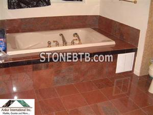 Bathroom-Multicolor Red