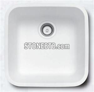 Composite Acrylic Solid Surface Under Mount Kitchen Basin Sink f