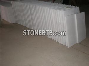 Viet Nam pure white  marble polished