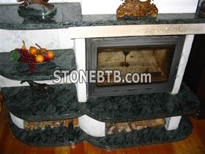 Fireplaces-Blue Pearl granite