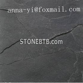 natural cleft black slate for floor