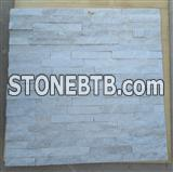 decorative exterior interior white quartz natural stone wall cladding