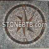 Feature mosaic natural stones tiles in direction Pattern for Floor tile