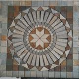 mosaic flat stones tiles in flower pattern