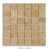 Antique Gold Tumbled Travertine Mosaic