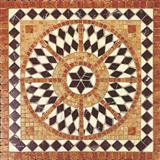 Floor inlay mosaic medallions
