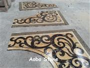 Yellow onyx and dark emperador waterjet polished finished Chinese manufacturer