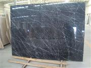 China Nero Marquine Marble Slab, Black & White
