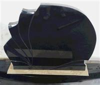 China Black Granite Fan Pattern Headstone