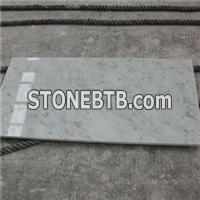 Italian Carrara White Marble Polished Bathroom Floor Tile