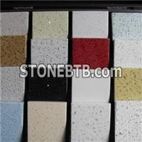 White Quartz Floor Tile, Composite Engineered Marble Tiles for Kitchen
