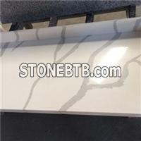 Calacatta Composite Solid Surface Quartz Bathroom Countertop