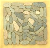Cut pebble multicolor mosaic tiles