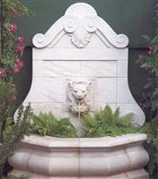 Limestone wall fountain